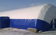 Inflatable building